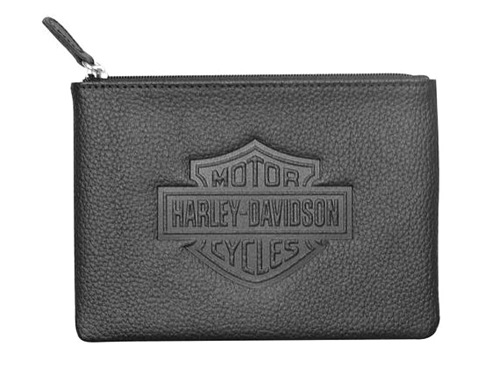 Harley-Davidson® Women's Embossed Bar & Shield® Coin/Utility Pouch   Zip Closure