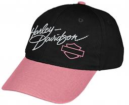 Harley-Davidson® Girls' Twill Baseball Cap | Rhinestone Accents