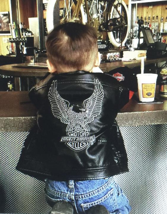 Harley-Davidson® Boys' Laundered Faux Leather Biker Jacket