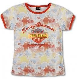 Harley-Davidson® Girls' Ink Blot T-Shirt   Short Sleeves
