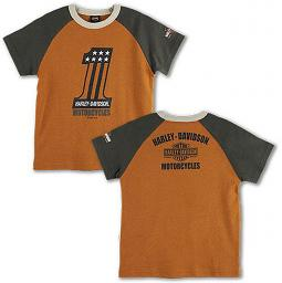 Harley-Davidson® Boys' #1 Raglan-Sleeve T-Shirt | Short Sleeves