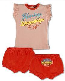 Harley-Davidson® Baby Girls' 2 Piece Set | Top & Diaper Cover