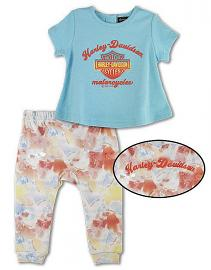Harley-Davidson® Baby Girls' 2 Piece Set | A-Line Top & Pull-On Pants