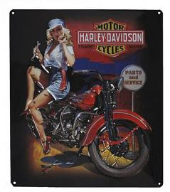 Harley-Davidson® Fixer Up Babe Tin Sign | Rounded Corners