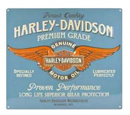 Harley-Davidson® Genuine Duty Embossed Tin sign | Winged Bar & Shield® | Genuine Motor Oil Logo