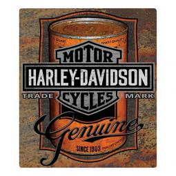 Harley-Davidson® Embossed Oil Can Label Tin Sign