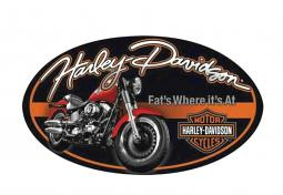Harley-Davidson® Fat Boy® Oval Embossed Tin Sign