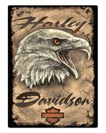 Harley-Davidson® Embossed Tin Sign | Eagle Card