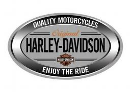 Harley-Davidson® Oval Embossed Tin Sign | Enjoy The Ride