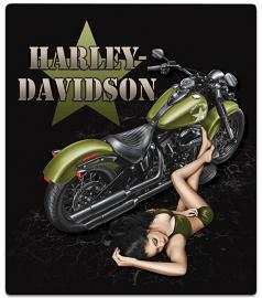 Harley-Davidson® Duty Calls Babe Embossed Tin Sign