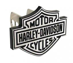 Harley-Davidson® Bar & Shield® Auto Hitch Plug | Silver & Black