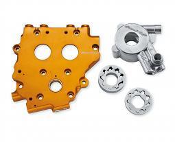 Harley-Davidson® Screamin' Eagle® Billet Cam Support Plate with High Volume Oil Pump
