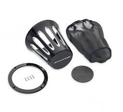 Harley-Davidson® Teardrop Heavy Breather Filter Cover | Screamin' Eagle® | Cut Back Black | End Logo