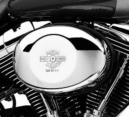 Harley-Davidson® Air Cleaner Cover | Nostalgic Bar & Shield | Twin Cam | Oval