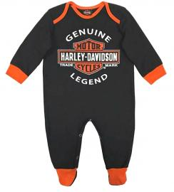 Harley-Davidson® Infant Boys' Motor Oil Label Interlock Coverall | Footed