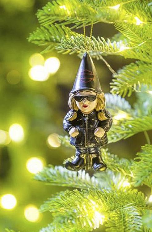 Harley-Davidson® Biker Garden Gnome Ornament | Female