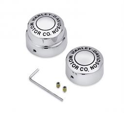 Harley-Davidson® Rear Axle Nut Cover Kit | H-D Motor Co. | '08-later Dyna & Softail | Chrome