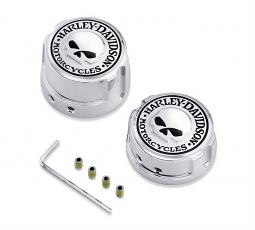 Harley-Davidson® Rear Axle Nut Cover Kit | Willie G® Skull | '08-later Dyna® & Softail® | Chrome