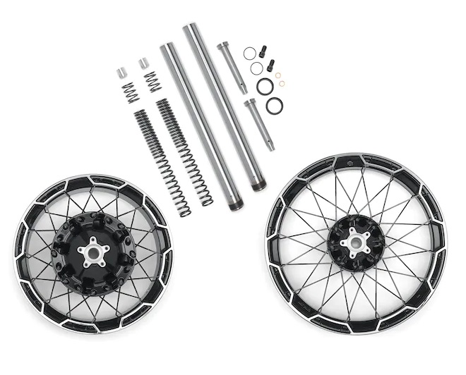 Harley-Davidson® Combo Cast Laced 21 In. Front/18 In. Rear Wheel Kit