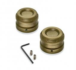 Harley-Davidson® Front Axle Nut Cover Kit | Dominion™ Collection | Bronze