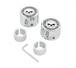 Harley-Davidson® Willie G® Skull Chrome Collection | Front Axle Nut Cover Kit