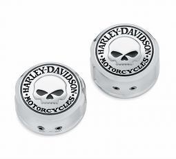 Harley-Davidson® Willie G® Skull Chrome Collection | Swingarm Pivot Bolt Cover Kit