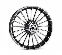 Harley-Davidson® Wheel | Turbine Custom in Contrast Chrome | 19 Inch Front