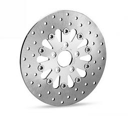 Harley-Davidson® Floating Front Brake Rotor - Chrome Teardrop