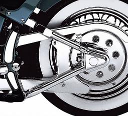 Harley-Davidson® Rear Axle Covers | Softail | Chrome