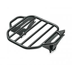 Harley-Davidson® King Detachables™ Two-Up Luggage Rack - Gloss Black