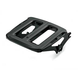 Harley-Davidson® Detachables™ Adjustable two-up Luggage Rack - Gloss Black