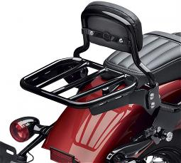 Harley-Davidson® Sport Luggage Rack Kit for HoldFast™ Sissy Bar Uprights | Gloss Black | '18-Later Softail® Models
