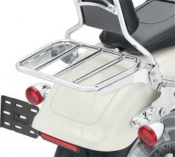 Harley-Davidson® Sport Luggage Rack Kit for HoldFast™ Sissy Bar Uprights | Chrome | '18-Later Fat Boy® & Breakout® Models