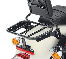 Harley-Davidson® Sport Luggage Rack Kit for HoldFast™ Sissy Bar Uprights | Gloss Black | '18-Later Fat Bob® Sport Glide® & Low Rider® Model