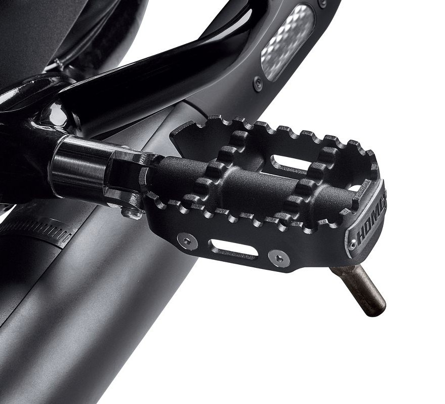Harley-Davidson® 80Grit™ Rider Footpegs with Wear Peg | Black