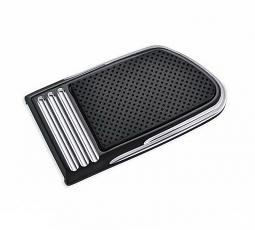 Harley-Davidson® Brake Pedal Pad | Defiance Black Anodized Machine Cut | Large