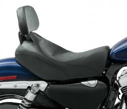 Harley-Davidson® Signature Series Solo Seat with Rider Backrest