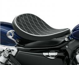 Harley-Davidson® Black Diamond Solo Spring Saddle