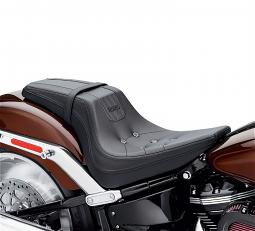 Harley-Davidson® Bevel Two-up Seat | '18-Later Milwaukee-Eight® Fat Boy® | Black