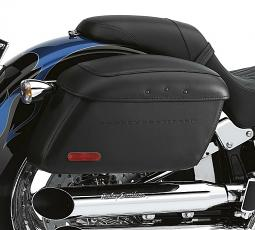 Harley-Davidson® Leather Covered Rigid Saddlebags | Locking | Softail® Models