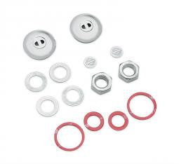 Harley-Davidson® Shock Bolt Cover Kit | Chrome