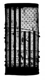 Hair Glove® Distressed Black & White USA Flag Light-Weight EZ Tube Multi-Functional Headwear