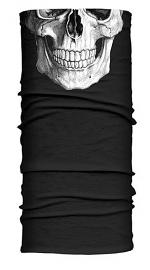 Hair Glove® Black Reflective Skull Light-Weight EZ Tube Multi-Functional Headwear