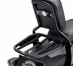 Harley-Davidson® Custom Tapered Sport Luggage Rack- Gloss Black