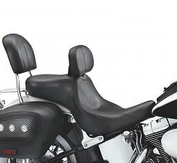 Harley-Davidson® Signature Series Seat with Rider Backrest | Deluxe Styling with Valance | Twin-Cam Softail®