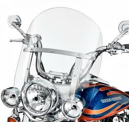 Harley-Davidson® King-Size Detachables Windshield for FL Softail Models 18 Inch Clear