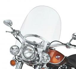 Harley-Davidson® King-Size Nostalgic Detachables™ Windshield for FL Softail Models 21 Inch Clear