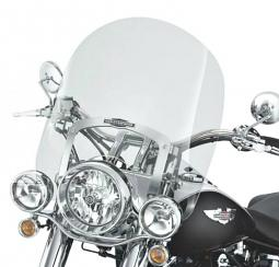 Harley-Davidson® 18 Inch King-Size Nostalgic Detachables™ Windshield for FL Softail® Models Light Smoke