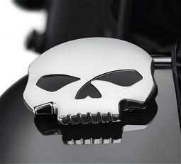 Harley-Davidson® Willie G® Skull Chrome Collection | Left Side Decorative Fuel Tank Cap Trim | '18-Later Softail® Models