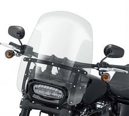Harley-Davidson® Milwaukee-Eight® Fat Bob® & Fat Boy® | Wind Splitter Detachable Compact Windshield | 19"
